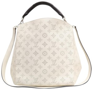 Louis Vuitton Lv Mahina Babylone Pm Calfskin Satchel in creme