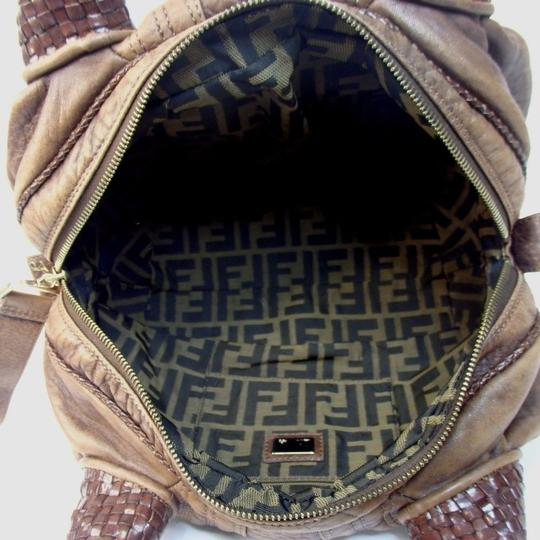 Fendi Spy Leather Tote in Brown