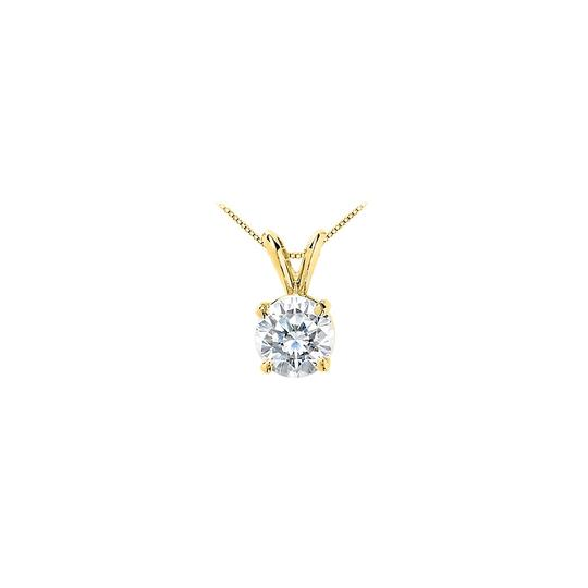 Preload https://item1.tradesy.com/images/white-yellow-gold-cubic-zirconia-solitaire-pendant-10-carat-brilliant-cut-triple-aaa-qua-necklace-23340720-0-0.jpg?width=440&height=440