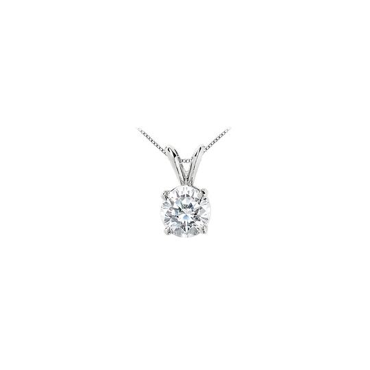 Preload https://item3.tradesy.com/images/white-cubic-zirconia-solitaire-pendant-10-carat-round-prong-set-in-14k-necklace-23340722-0-0.jpg?width=440&height=440