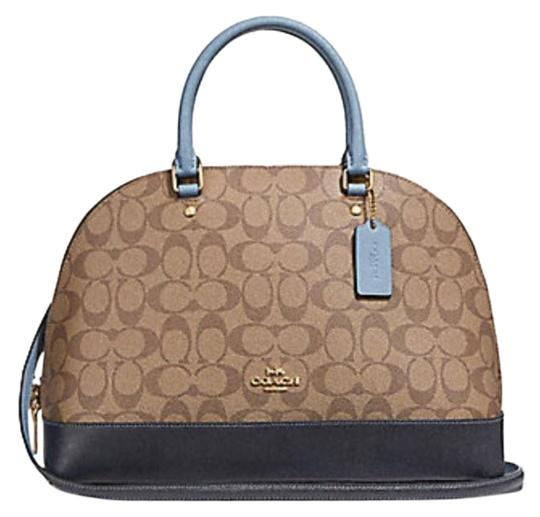 Preload https://item2.tradesy.com/images/coach-sierra-in-colorblock-signature-57524-khakimidnight-poollight-gold-leather-satchel-23340726-0-1.jpg?width=440&height=440