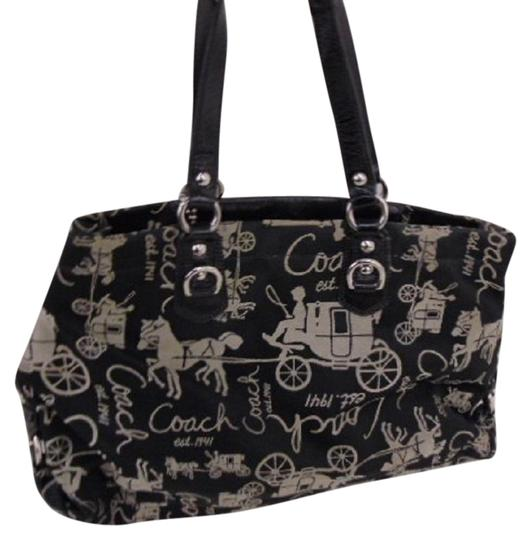 Preload https://item5.tradesy.com/images/coach-ashley-horse-and-carriage-handbag-15656-svblack-canvasleather-shoulder-bag-23340739-0-1.jpg?width=440&height=440