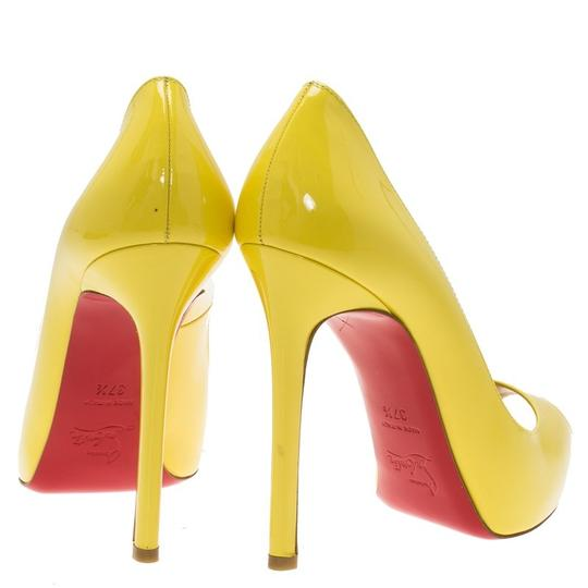 Christian Louboutin Yellow Pumps