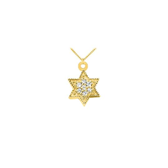 Preload https://img-static.tradesy.com/item/23340750/white-cubic-zirconia-star-pendant-in-14k-yellow-gold-010-ct-tgw-with-yellow-necklace-0-0-540-540.jpg