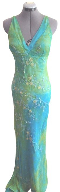 Preload https://item3.tradesy.com/images/scala-bluegreen-beaded-empire-long-formal-dress-size-8-m-23340752-0-1.jpg?width=400&height=650
