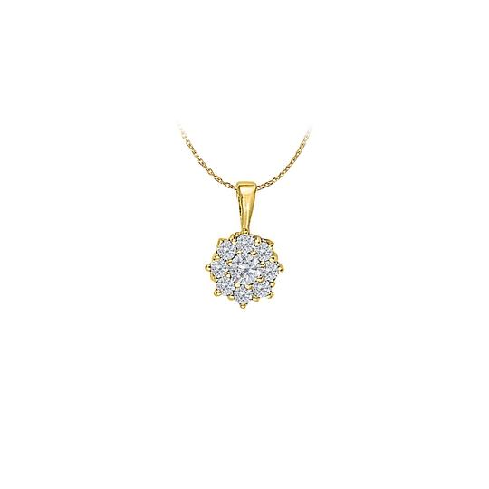 Preload https://item2.tradesy.com/images/white-yellow-gold-czs-circle-pendant-in-14k-033-ct-tgwperfect-gift-necklace-23340761-0-0.jpg?width=440&height=440