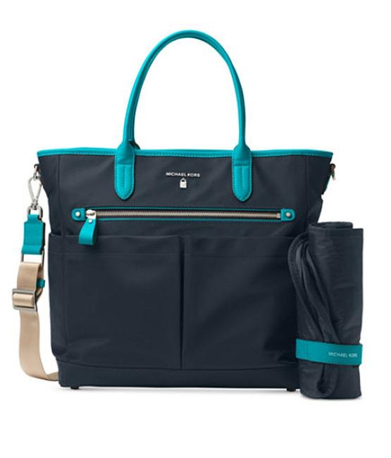 Item - Kelsey Admiral and Teal Blue Canvas Diaper Bag