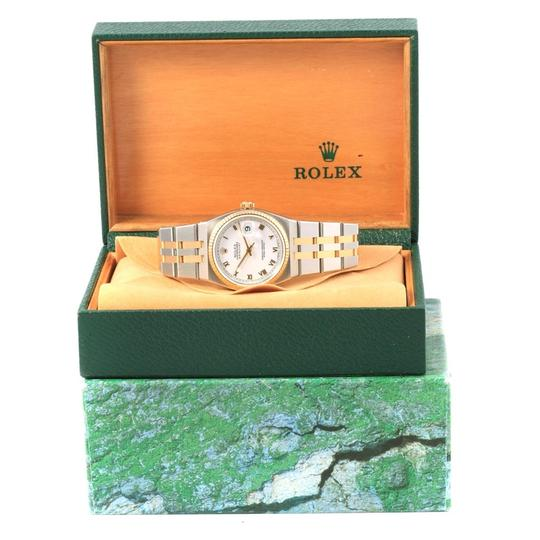 Rolex Rolex Oysterquartz Datejust Steel Yellow Gold White Dial Watch 17013