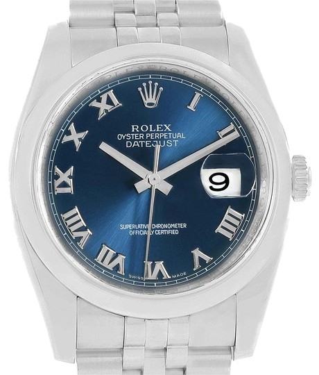 Preload https://item3.tradesy.com/images/rolex-blue-datejust-roman-dial-steel-mens-116200-box-card-watch-23340827-0-2.jpg?width=440&height=440