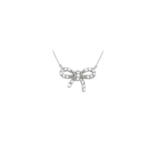 Preload https://img-static.tradesy.com/item/23340829/white-diamond-bow-pendant-in-14k-gold-totaling-010-ct-tdw-conflict-fr-necklace-0-0-540-540.jpg