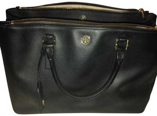 Preload https://item1.tradesy.com/images/tory-burch-robinson-collection-black-satchel-23340840-0-2.jpg?width=440&height=440