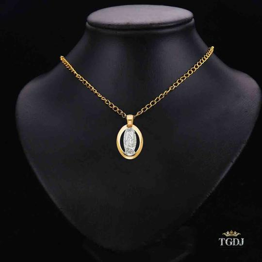 Top Gold & Diamond Jewelry 14K Yellow White Gold Guadalupe Religious Pendant Image 1