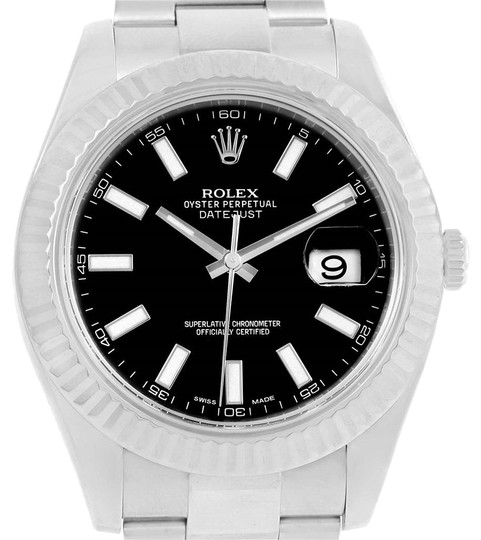 Preload https://item5.tradesy.com/images/rolex-black-datejust-ii-steel-white-dial-mens-116334-box-watch-23340894-0-2.jpg?width=440&height=440