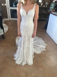 Martina Liana Ivory Lace Over Honey French Inspired Style 905 Sexy Wedding Dress Size 6 (S)
