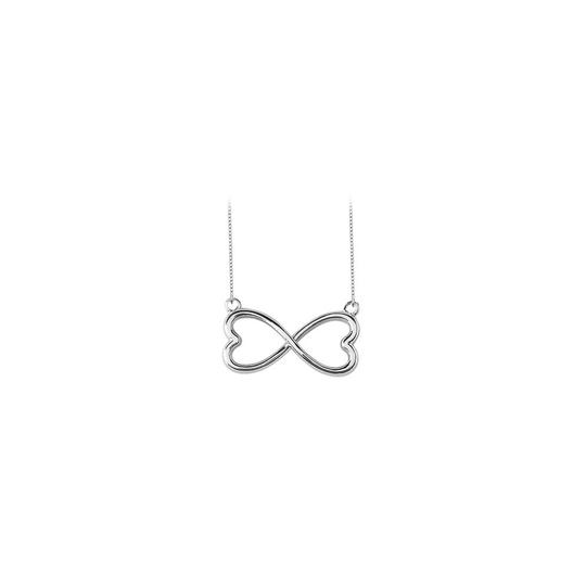 Preload https://img-static.tradesy.com/item/23340903/white-heart-infinity-pendant-gold-14k-necklace-0-0-540-540.jpg