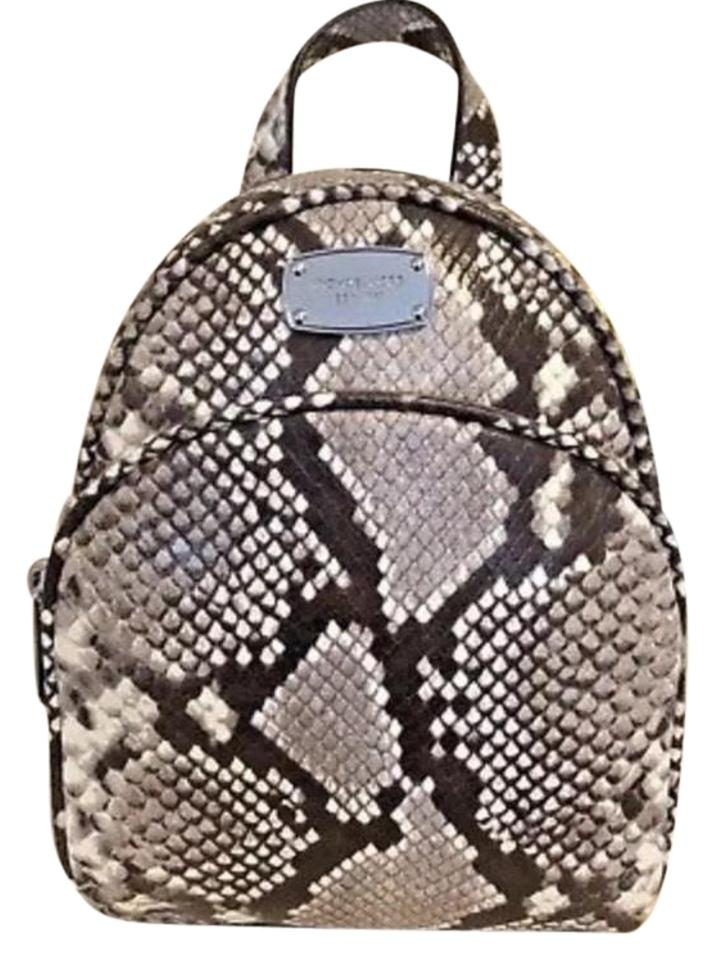 7c5b8f63c60a Michael Kors Pattern Snake Skin Leather Backpack - Tradesy