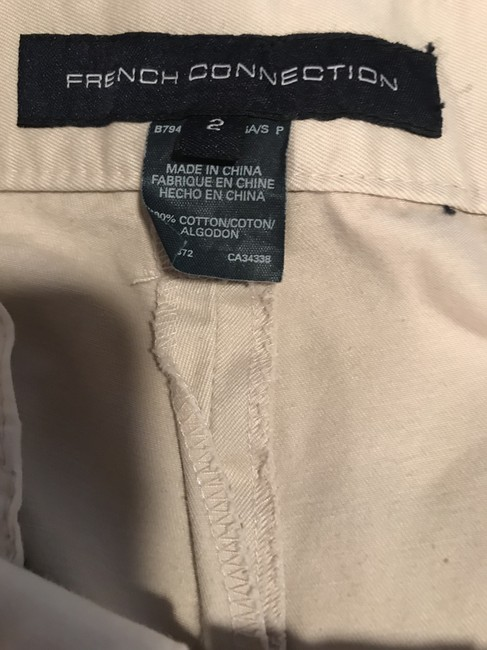 French Connection Khaki/Chino Pants Cream Image 5