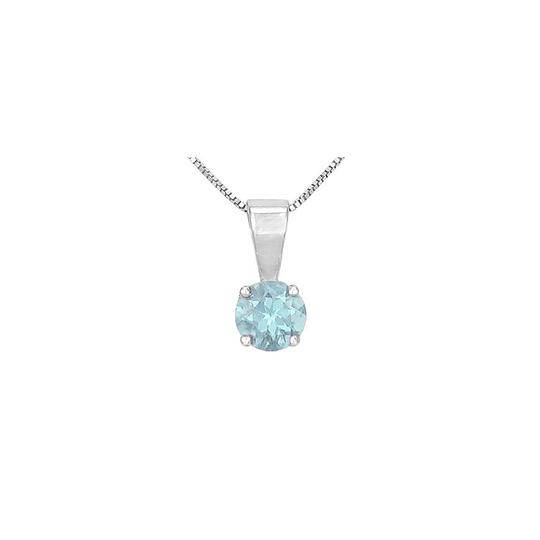 Preload https://img-static.tradesy.com/item/23340915/blue-white-gold-birthstone-round-aquamarine-solitaire-pendant-in-14k-necklace-0-0-540-540.jpg
