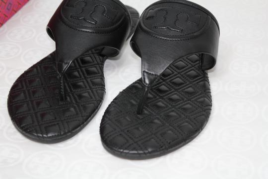 Tory Burch Summer Slides Fleming Black Sandals