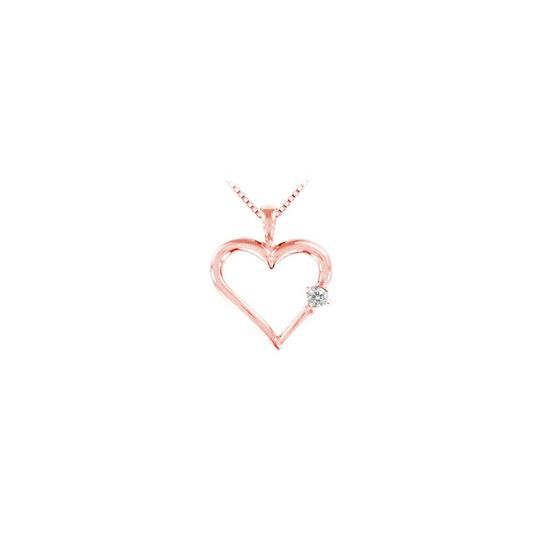 Preload https://img-static.tradesy.com/item/23340921/pink-rose-gold-natural-diamond-heart-pendant-14k-005-ct-necklace-0-0-540-540.jpg