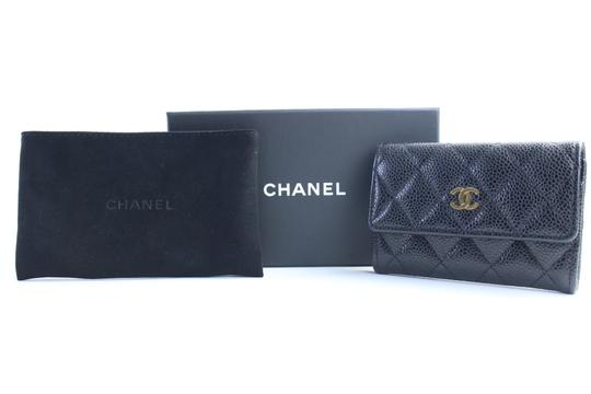 Chanel Card Pouch Card Case Card Wallet Credit Card Card Holder Black Clutch