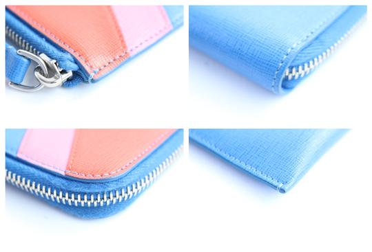 Fendi Pouch Pochette Zip Around Folder Blue Clutch