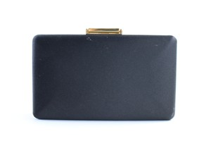 Burberry Prorsum Minaudiere Kisslock Evening Hard Case Black Clutch