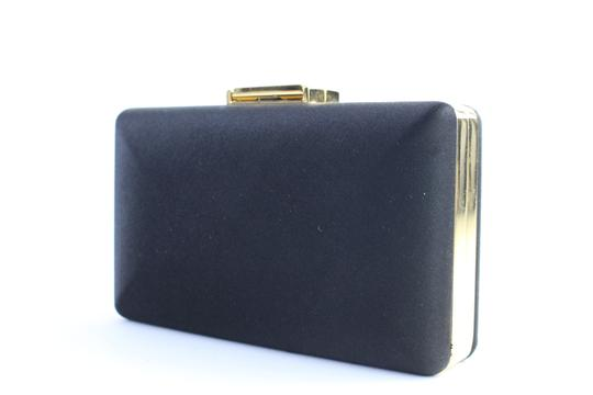 Burberry Prorsum Minaudiere Kisslock Evening Hard Case Black Clutch Image 1