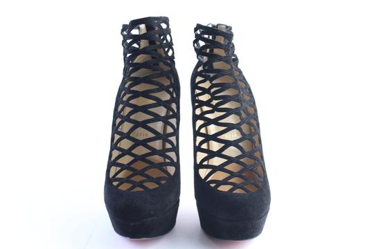 Christian Louboutin Ankle Boot Bootie Strappy Black Pumps