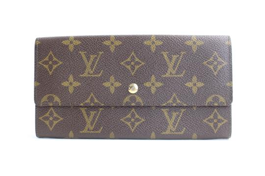 Louis Vuitton Bifold Sarah Sara Emily Continental Brown Clutch