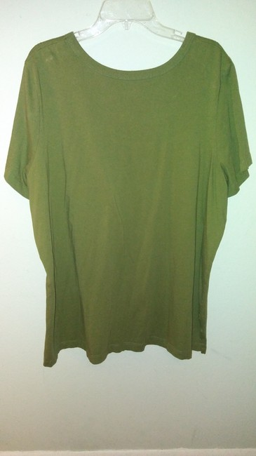 Woman Within T Shirt Olive green Image 1