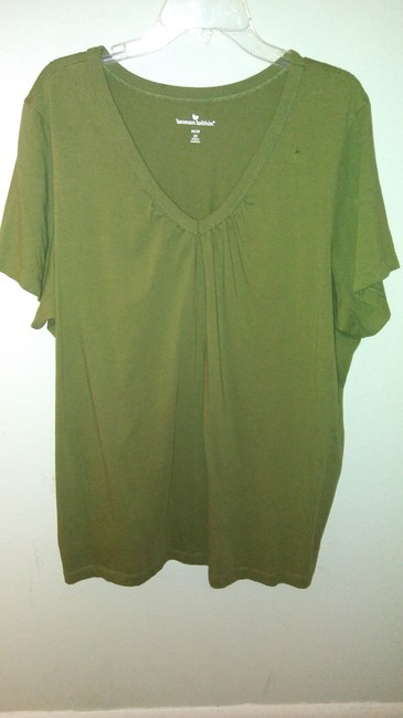 Woman Within T Shirt Olive green Image 2