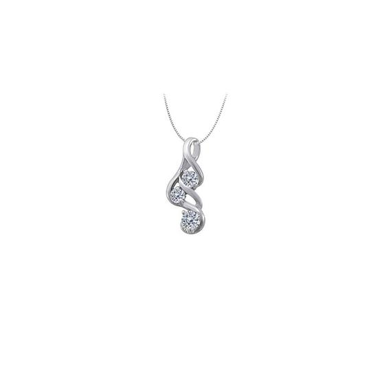 Preload https://img-static.tradesy.com/item/23340987/white-three-stone-cubic-zirconia-pendant-in-14k-gold-033-ct-tgw-with-necklace-0-0-540-540.jpg