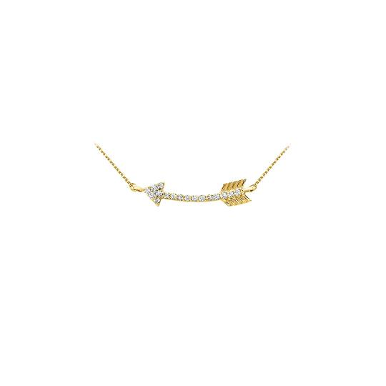 Preload https://img-static.tradesy.com/item/23340999/white-yellow-gold-unique-cubic-zirconia-arrow-pendant-in-14k-best-gi-necklace-0-0-540-540.jpg