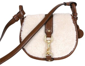 Michael Kors Shearling Jamie Saddle Cross Body Bag