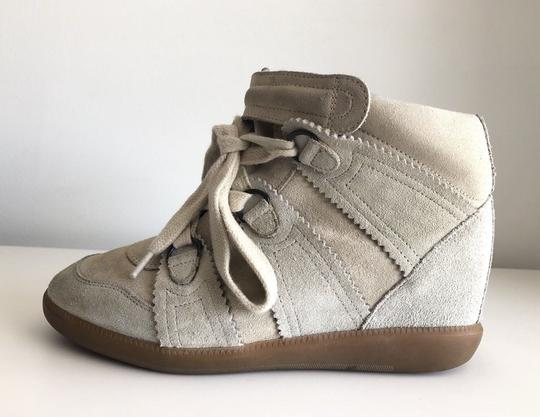 Isabel Marant Bobby Wedge Concealed Sneaker Chalk White Boots