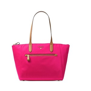 4f953c9569a3 Michael Kors Travel Kelsey Nylon Tote in Ultra Pink