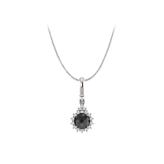 Preload https://item5.tradesy.com/images/black-white-gold-onyx-cz-round-pendant-14k-free-chain-necklace-23341089-0-0.jpg?width=440&height=440