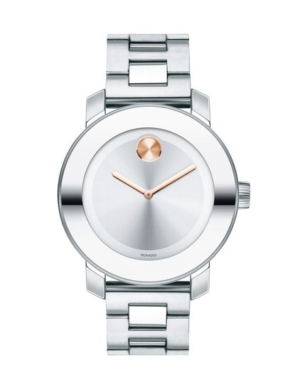 Preload https://item1.tradesy.com/images/movado-two-tone-stainless-bracelet-silver-rose-gold-dial-bold-3600084-swiss-watch-23341095-0-0.jpg?width=440&height=440