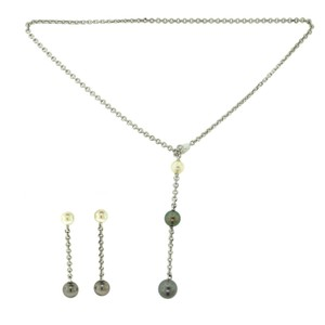 Cartier Cartier Lariat Tahitian & South Sea Pearl Chain Necklace & Drop Earrin