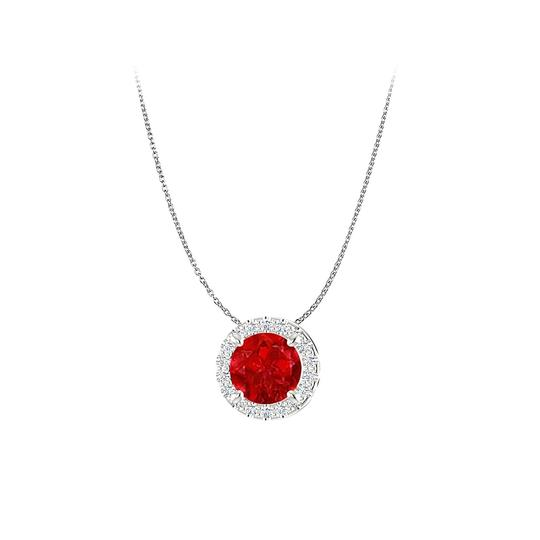 Preload https://item5.tradesy.com/images/red-white-gold-brilliant-cut-ruby-cz-halo-pendant-in-14k-necklace-23341099-0-0.jpg?width=440&height=440
