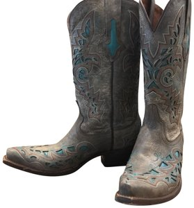 Lucchese Grey Boots
