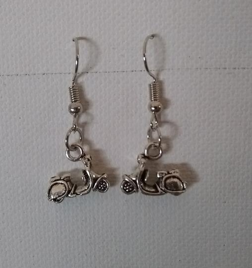 Unbranded Sterling Silver Plated Electric Motorscooter Dangle or Drop Earrings Image 1