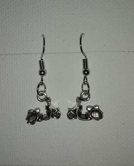 Unbranded Sterling Silver Plated Electric Motorscooter Dangle or Drop Earrings