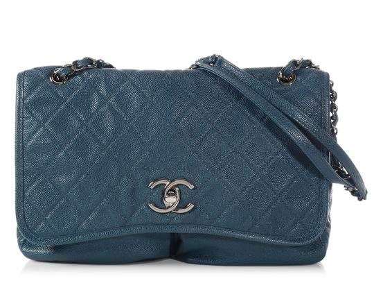 Preload https://item1.tradesy.com/images/chanel-part-quilted-pocket-flap-blue-leather-cross-body-bag-23341155-0-0.jpg?width=440&height=440