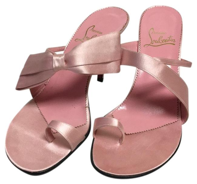 Item - Pink Elys Satin 312 Mules/Slides Size EU 38 (Approx. US 8) Regular (M, B)
