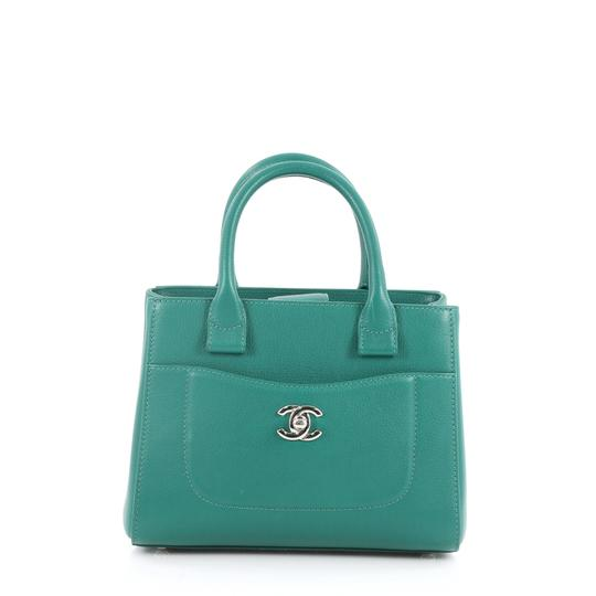 Preload https://item3.tradesy.com/images/chanel-mini-neo-executive-shopping-green-leather-tote-23341162-0-0.jpg?width=440&height=440