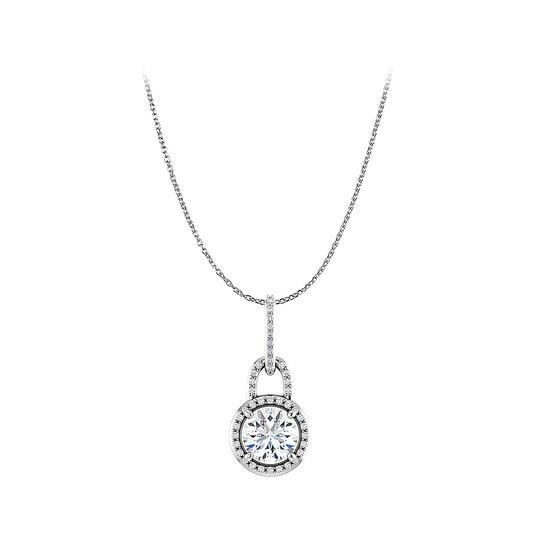 Preload https://img-static.tradesy.com/item/23341198/white-cubic-zirconia-round-pendant-free-18inch-long-chain-necklace-0-0-540-540.jpg