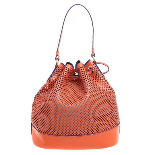 Preload https://item1.tradesy.com/images/moschino-perforated-drawstring-bucket-orange-leather-hobo-bag-23341215-0-0.jpg?width=440&height=440