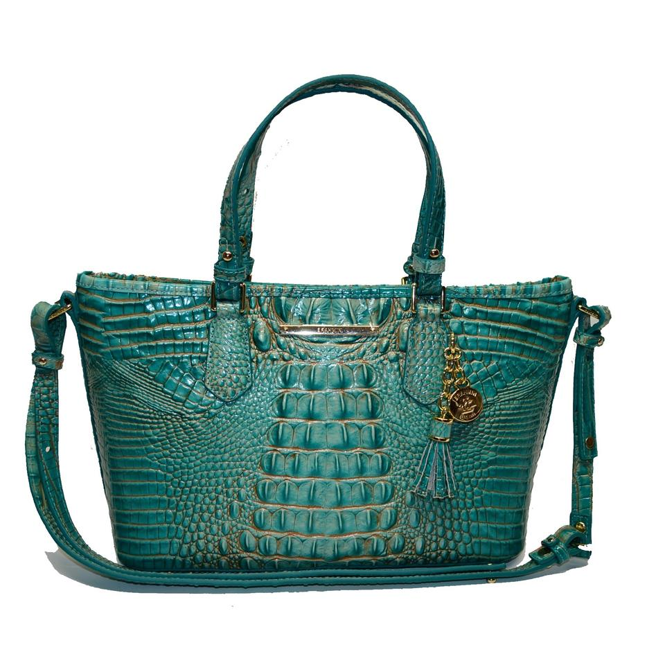 Brahmin Turquoise Satchel Crossbody Croco Asher Leather Mini 8w1qA8v